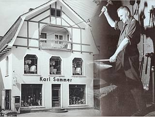 Firmengebäude mit Gründer Karl Sammer sen.