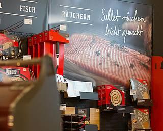 Die Fischecke in unserem Weber Experience World Store